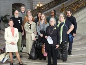 NPC Activists at SF Bd. of Supvs. Hearing